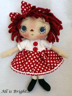 Raggedy Annie Doll by Allisbright on Etsy, $32.00