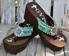 725522213e6c SALE Gypsy Soule Jasmin Flip Flops  307.97 www.gugonline.com Bling Flip  Flops