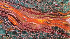 Lava Flow | Natalie Warne, abstract mosaic