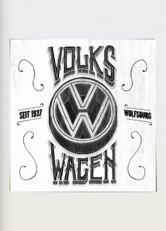 beautiful, Calligraphy, design, drawing, Examples, hand lettered, Inspiration, typography,Volkswagen Lettering