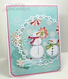 Round Snowmen by ChristineCreations - Cards and Paper Crafts at Splitcoaststampers