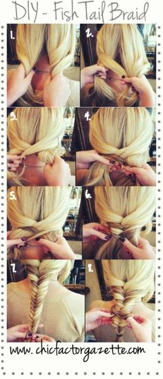 DIY - Fishtail Braid See more hair looks on http://bellashoot.com (social beauty community)