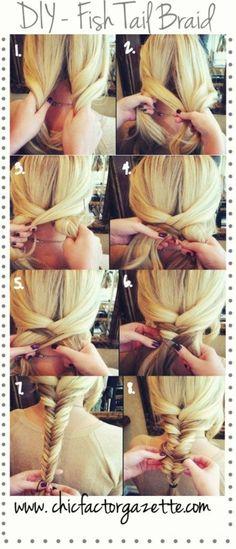 DIY - Fishtail Braid See more hair looks on http://bellashoot.com (social beauty community)