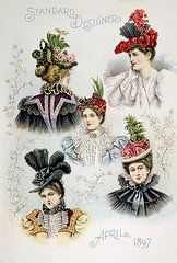 Womens Hat Designs For April, 1897