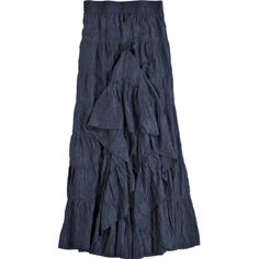 CALYPSO St. Barth Erma Silk Tiered Maxi Skirt ($295) ❤ liked on Polyvore