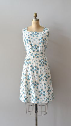 April Flowers dress cotton 50s dress vintage 1950s by DearGolden
