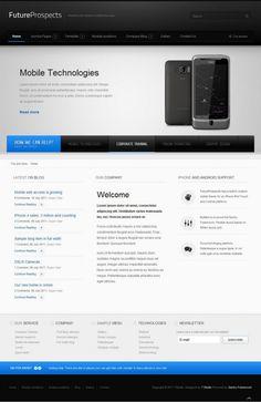 tf futureprospects stylish corporate 600x924 FutureProspects Stylish Corporate Joomla Template