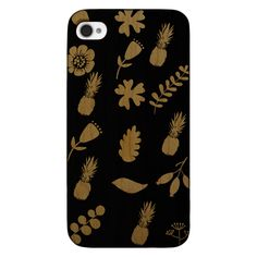 Summer Fruits and Flowers- Laser Engraved Wood Phone Case (Maple,Cherry,Black,Cork)