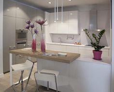 61 brilliant little kitchen ideas that you surely love 14 - Kitchen Decor Small Modern Kitchens, Elegant Kitchens, Home Kitchens, Interior Design Kitchen, Kitchen Decor, Kitchen Ideas, Zen Kitchen, Little Kitchen, Küchen Design