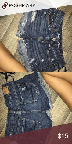Denim shorts Distressed midi denim shorts American Eagle Outfitters Shorts Jean Shorts