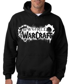 WORLD of WARCRAFT HOODIE Hooded Sweatshirt Horde Alliance WOW Blizzard Game Vid #RockCityThreads #Hoodie