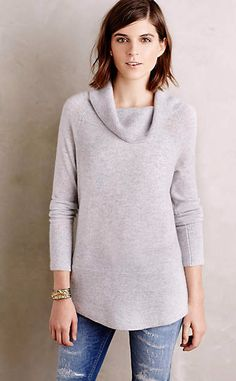 Cowled Cashmere Tunic #anthroregistry