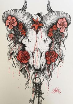 It's been a rough week, so I apologize for the spam. If you like my art and want some prints, for every two I'll throw an extra in for free. I do sign everything and ship hard flat mailers as well. Thank you for any support. Tigh Tattoo, Ram Tattoo, Pretty Tattoos, Love Tattoos, Sexy Tattoos, Skull Tattoos, Body Art Tattoos, Tattoo Sketches, Tattoo Drawings