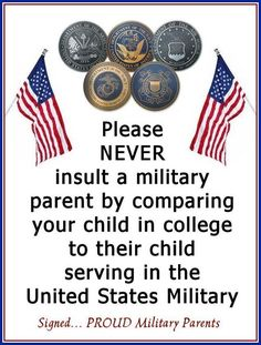 """Yep! I sent my son off to infantry school and told him """"pull the pin and throw the grenade"""""""