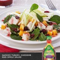 Smoked Turkey Cheddar  Apple Salad