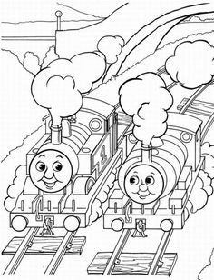 These Thomas the Train Coloring Pages and Colouring Pictures to Printeach give birth to lone of many special kids coloring pictures. Each has been selected from the greatest coloring pictures for k… Train Coloring Pages, Cool Coloring Pages, Printable Coloring Pages, Coloring Sheets, Coloring Pages For Kids, Coloring Books, Kids Coloring, Thomas Birthday Parties, Thomas The Train Birthday Party