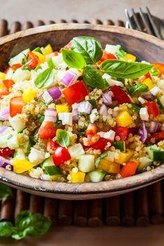 Weight Watchers Friendly Mediterranean Quinoa Salad Recipe - 8 WW Smart Points