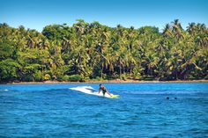 """Siargao is known as the """"Surfing Capital of the Philippines"""", but you don't need to be a surfer to enjoy the beautiful scenery and natural attractions on the island. Siargao Philippines, Philippines Beaches, Siargao Island, Huge Waves, Surfboard, Seaside, Travel Inspiration, Surfing, Scenery"""