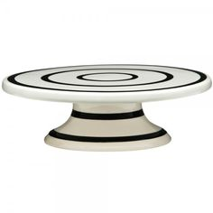 Cake stands servers Black White Stripes Mini Cake Stand ❤ liked on Polyvore