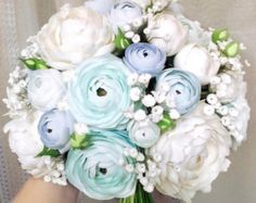 Freesia eustoma tulip rose lavender bridal by FlowersofSharon