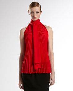 Plisse Top  by Gucci at Bergdorf Goodman.