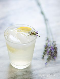 Lavender Lemonade ~ Homemade lemonade with infused lavender. ~ SimplyRecipes.com