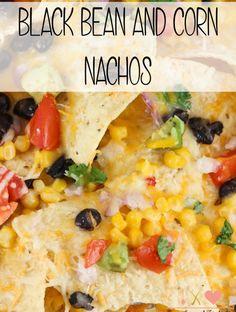 Black Bean and Corn Nachos