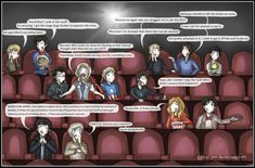 """""""...he bit me""""  Superwholockingers - at the movies by ~Star-Jem on deviantART"""