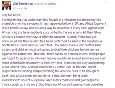 Ekpo Esito Blog: Another African immigrant burnt alive in South Afr...