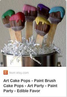 Art Brush cake pops.