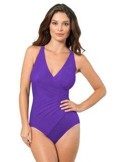 f297ffba667ac Wavely Women s One Piece Plus Size Swimwear Tummy Control High Neck ...