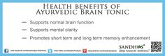 Health Benefits of #Brain #Tonic #Ayurveda #Livermore #Herb #supplements www.sandhuproducts.com