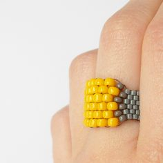 Beautiful beaded ring by Izabel Designs