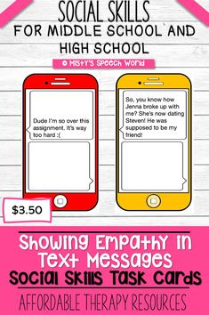 $3.50 · If you're looking for speech therapy activities to target social skills for teens, these task cards are just what you are looking for. This is a NO prep speech therapy activity: Buy now, download, print and you are ready to go! Therapy resources for teens can be difficult to come by, but you will find plenty of them at Misty's Speech World! Buy now: to purchase this set of task cards, click on this pin, purchase, download and add this to your speech therapy toolkit!