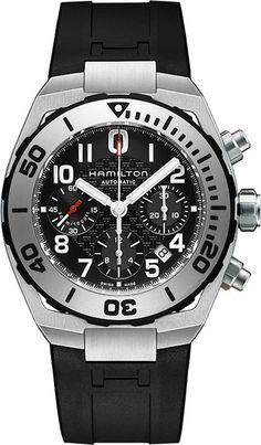 Hamilton Watch Khaki Navy SUB Auto Chrono #bezel-unidirectional…