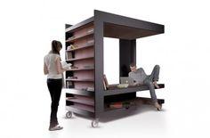 約1.5畳の贅沢空間  オフィスでも自宅でも。書斎ブース、ワーキングスペース、ベッド、リラックススペース…多用途に使える可動式のボックス空間です。