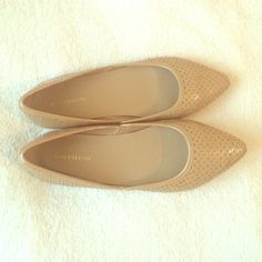 Ann Taylor nude flats Super cute quality nude flats! Pair it with jeans or whatever. It has never been worn so the price is a steal!  Ann Taylor Shoes Flats & Loafers