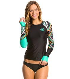 ac6a693f88 Body Glove Breathe Women s Maka Sleek Long Sleeve Rash Guard at  SwimOutlet.com - Free Shipping