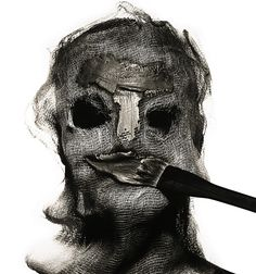 "Jon Emmony, Digital Art Director: ""Beauty Treatment with Gauze Mask,"" by Irving Penn, 1997."