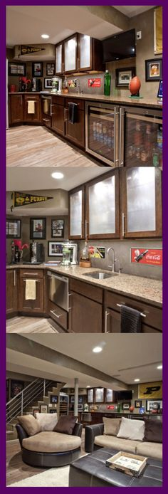 Though in reality, many tend to leave the basement unkempt. Instead of being specially-functioned, may be a good to change it become basement kitchen ideas. Small Basement Kitchen, Rustic Basement, Modern Basement, Basement Laundry, Kitchen On A Budget, Basement Ideas, Kitchen Ideas, Room Kitchen, Laundry Room