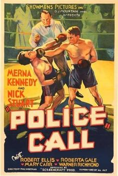 1930's Police Call Vintage Sports & Boxing Movie Poster – Vintage Poster Works: Debra Clifford