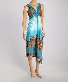 Look at this #zulilyfind! Light Blue Midi Dress by OneWorld #zulilyfinds
