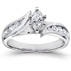Shop for Annello by Kobelli 14k White Gold 1ct TDW Marquise Diamond Engagement Ring. Get free delivery at Overstock.com - Your Online Jewelry Destination! Get 5% in rewards with Club O! - 14332157