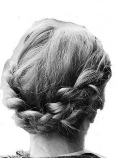 BRAID PLAITED CHUNKY DARK GREY SALT AND PEPPER MIX HEADBAND HAIR PIECE EXTENSION