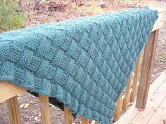 Basketweave pattern. Yarn is held double.