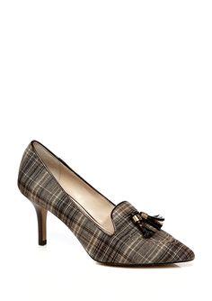 ANNE KLEIN Yilva plaid loafer pump