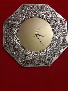 Aluminum Foil Art, Aluminum Can Crafts, Metal Crafts, Pewter Art, Pewter Metal, Copper Metal, Mirror Crafts, Diy Mirror, Silver Pooja Items