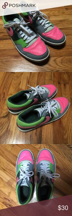 Nike Air   Custom Pink Green and Grey NO SCUFFS These are some beautiful shoes; bought them new but turned out to be the wrong size for me.  My loss is your gain.. Shoes Sneakers