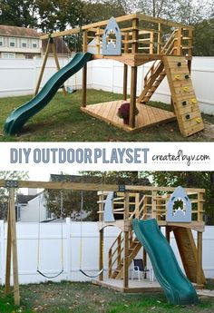 How to Build Your Own Outdoor Playset