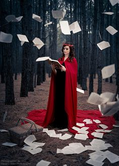 red riding hood done by a frame of mind media pages books fairytales photoshoots photography woods Levitation Photography, Fantasy Photography, Photoshoot Themes, Photoshoot Inspiration, Red Ridding Hood, Dark Fairytale, Conceptual Fashion, Fanart, Cosplay